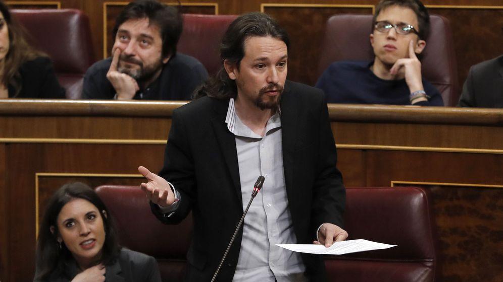 Foto: El líder de Podemos, Pablo Iglesias, en el Congreso de los Diputados. (EFE)