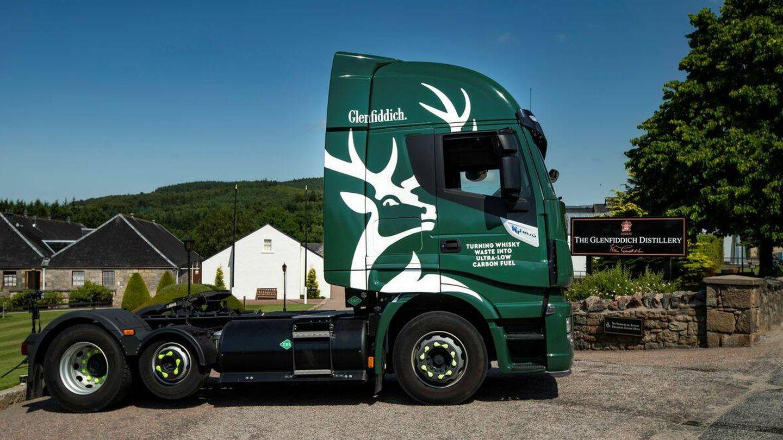 La compañía ya cuenta con tres camiones que funcionan con este biogás. (Glenfiddich)