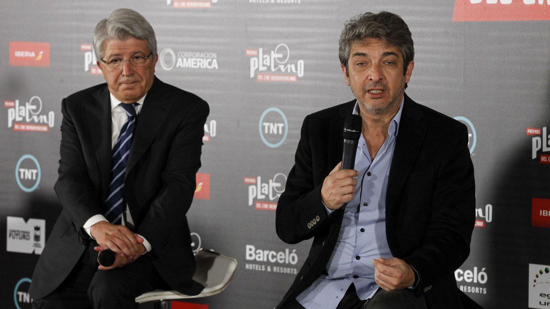 Enrique Cerezo y Ricardo Darín en la presentación de los Premios Platino (Efe)