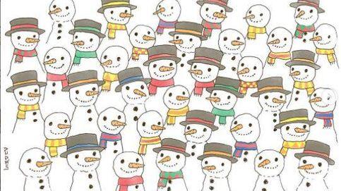 Acertijo viral: ¿eres capaz de encontrar al muñeco de nieve que no tiene pareja?