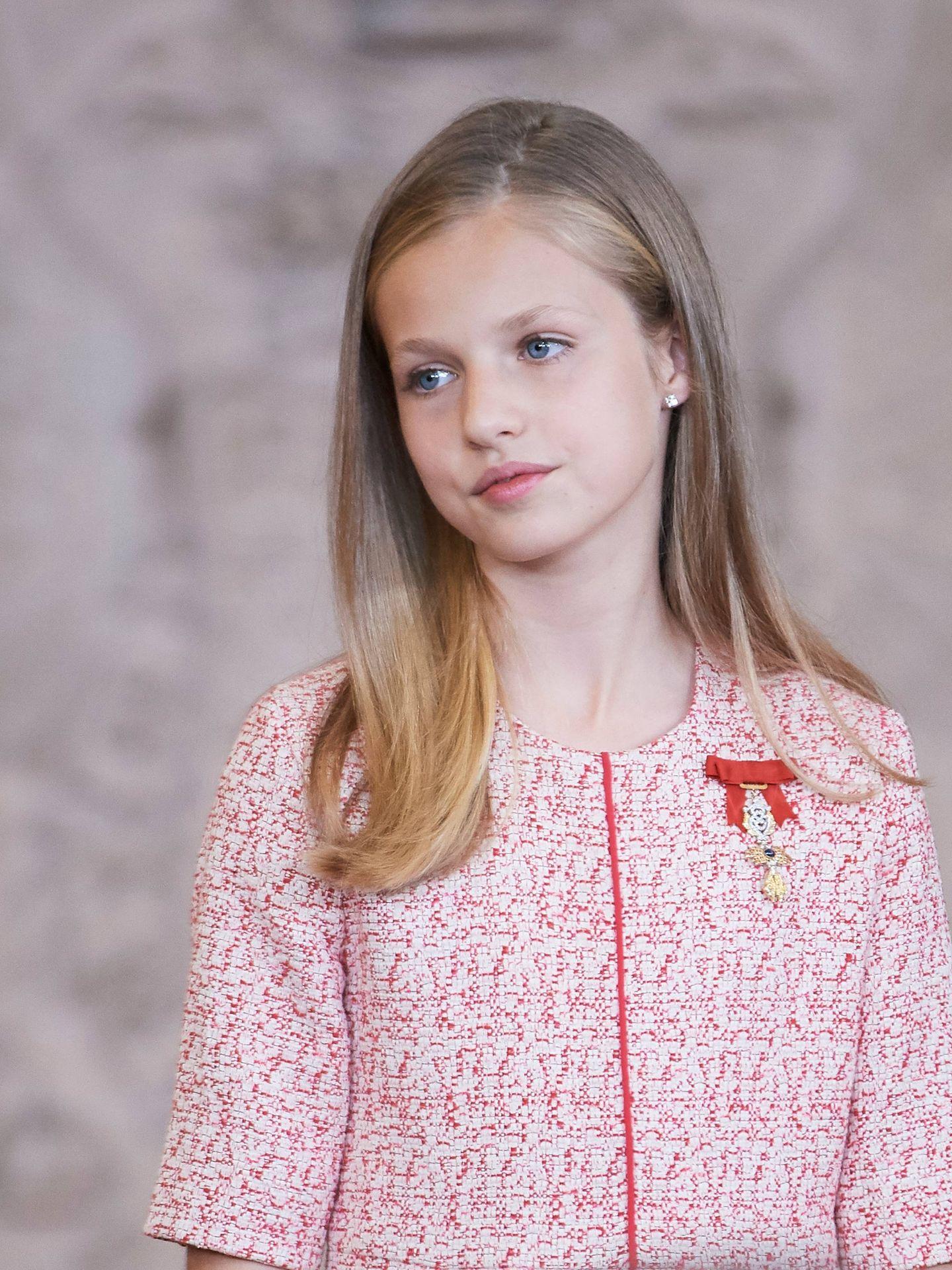 La Princesa de Asturias, este miércoles en el Palacio Real. (Limited Pictures)