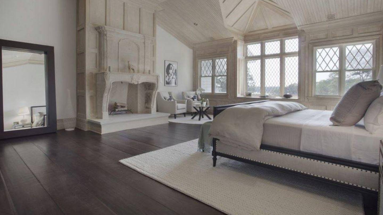 Dormitorio principal de la mansión de Beyoncé.