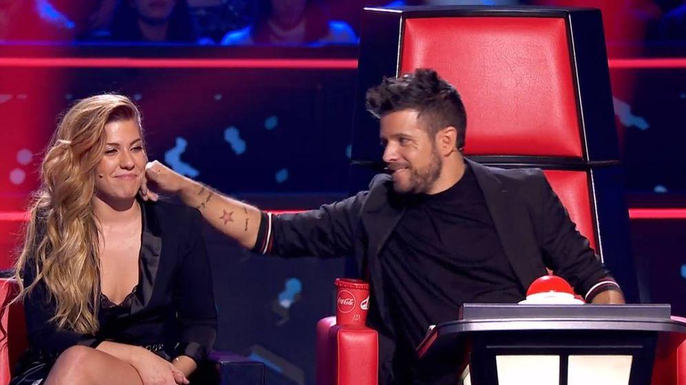 Foto: Miriam Rodríguez y Pablo López, en 'La Voz'. (Antena 3)