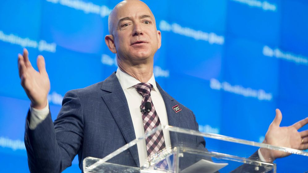 Foto: Jeff Bezos da una charla en Nueva York. (iStock)