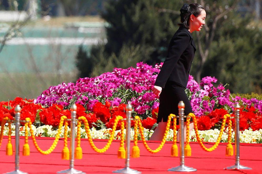 Foto: Kim Yo-jong, hermana del líder norcoreano, durante una ceremonia por la construcción de un complejo residencial en Pyonyang. (Reuters)