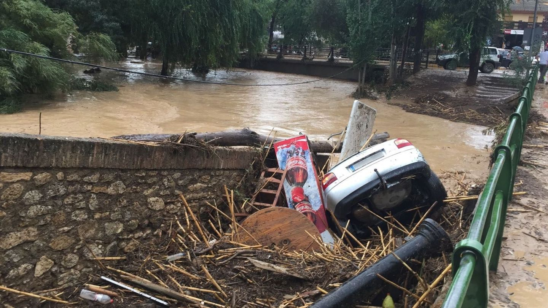Fotografía de las inundaciones causadas por la tromba en Riofrío. (EFE)