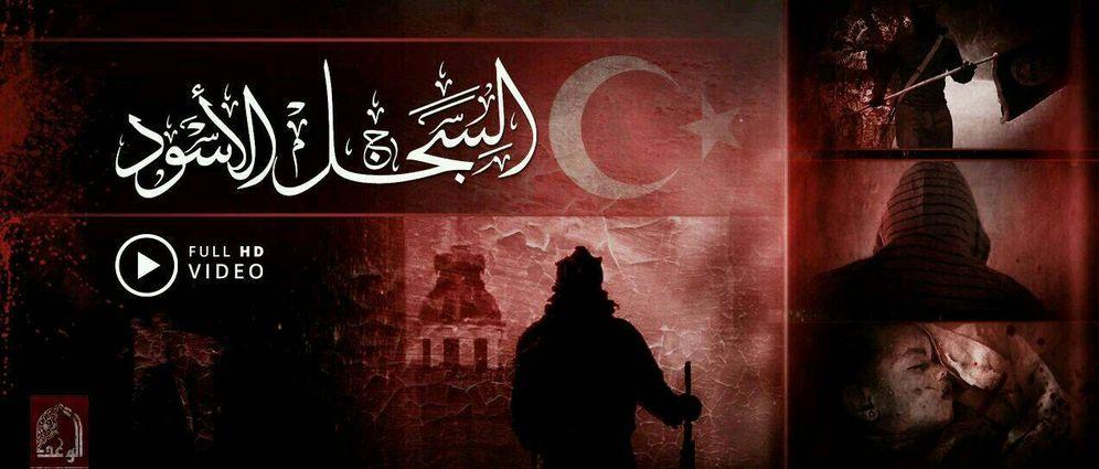 Foto: Captura de pantalla de un vídeo de propaganda del Estado Islámico contra Turquía.