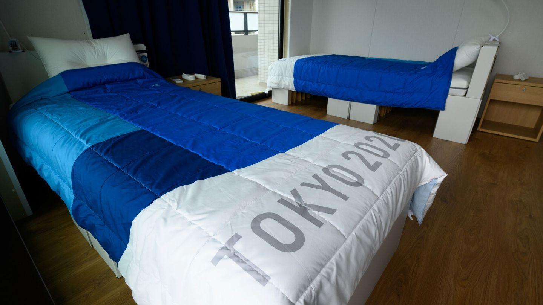 Las polémicas camas de la villa olímpica, hechas con cartón reciclable. (Reuters)