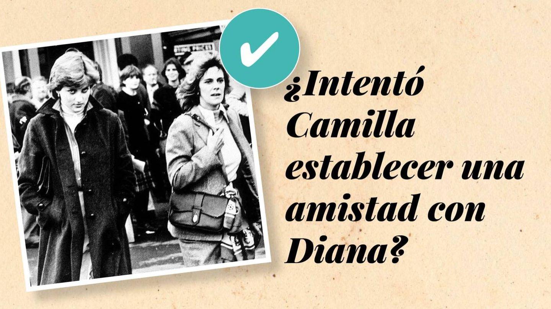 Camilla y Diana, en 1980. (Getty)