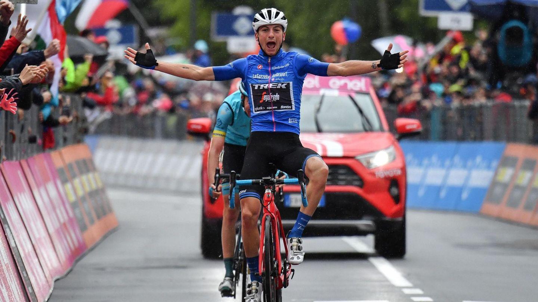 Giulio Ciccone, líder de la clasificación de la montaña, ganó la 16ª etapa del Giro. (EFE)