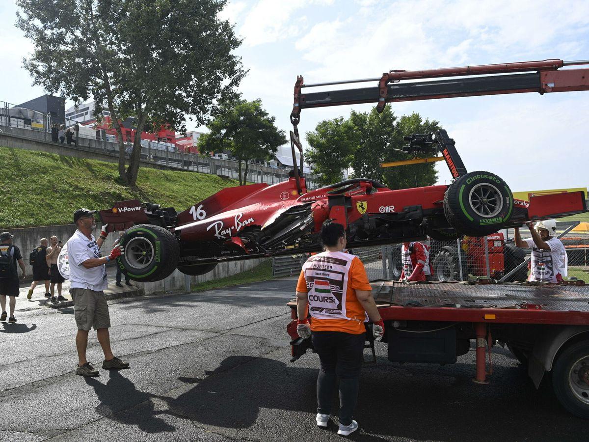 Foto: Ferrari sufrió una severa factura de daños en Hungría