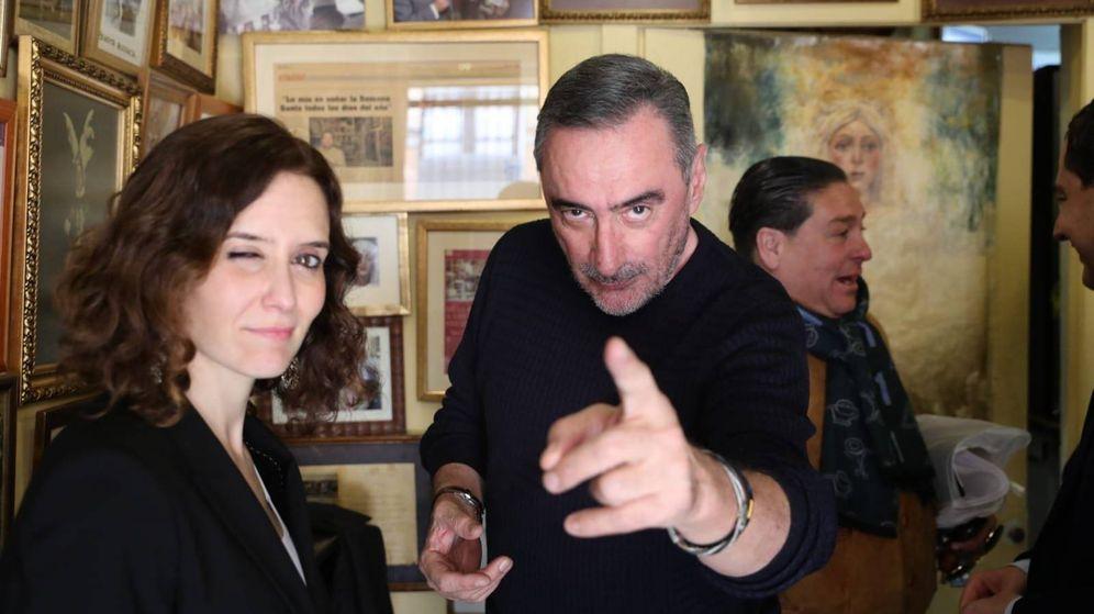 Foto: Díaz Ayuso y Carlos Herrera.