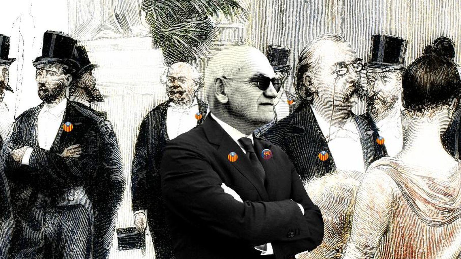 Foto: Carles Vilarrubí entre la burguesía catalana. (Enrique Villarino)