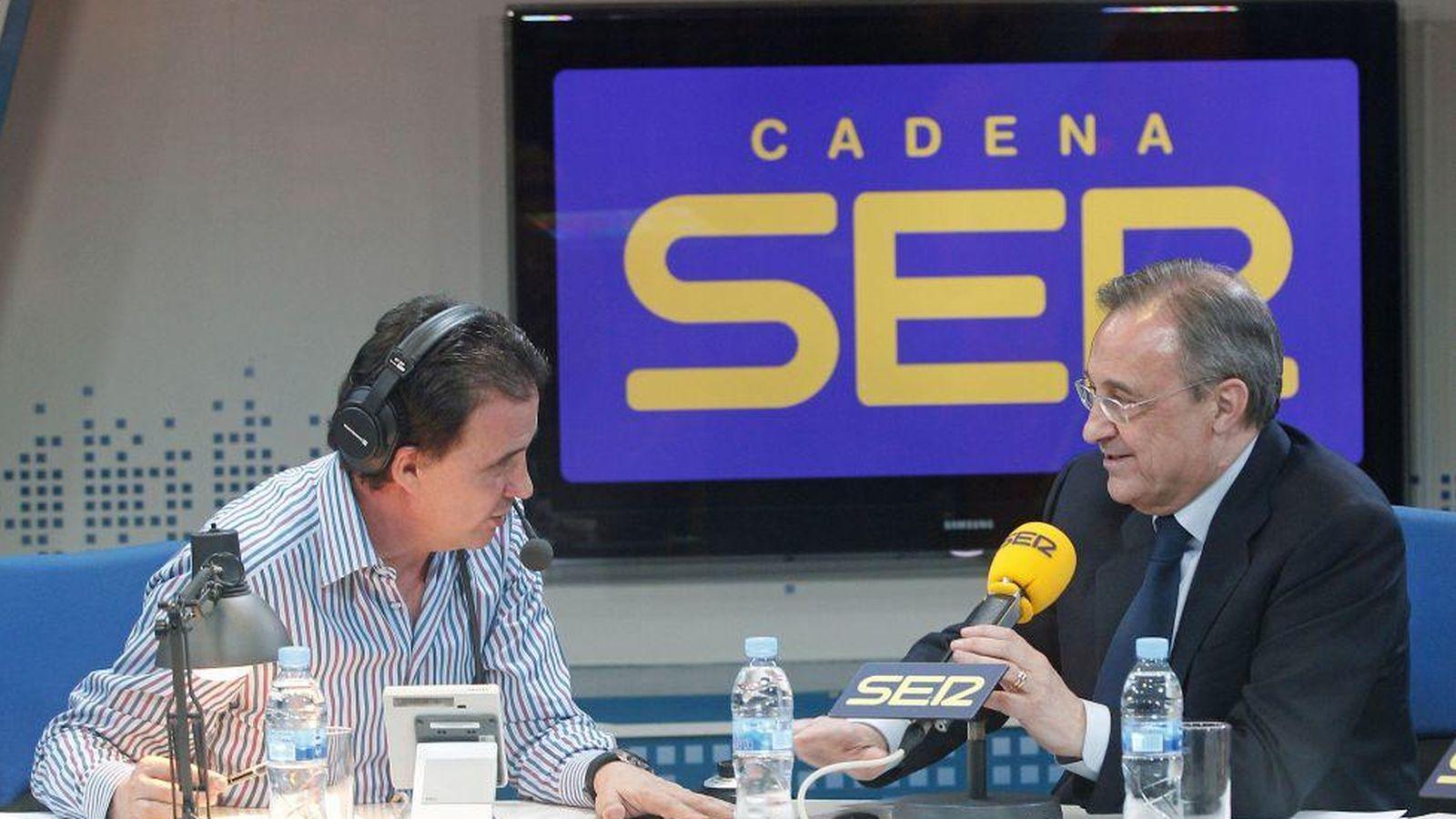 Foto: Florentino Pérez junto a José Ramón de la Morena (Foto: Cadena Ser)