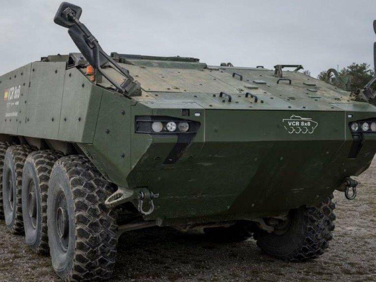 Foto: Uno de los demostradores del blindado 8x8. (Ejército de Tierra)
