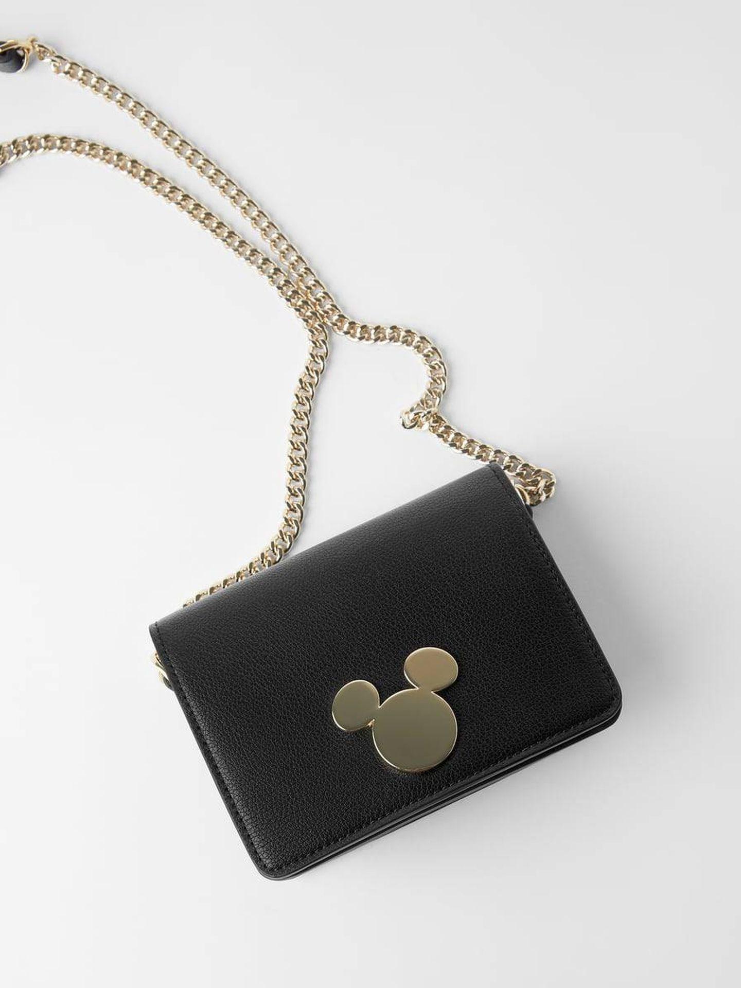 El bolso de Zara con la silueta de Mickey Mouse. (Cortesía)