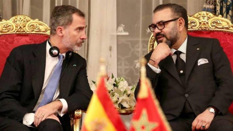 El rey Felipe VI y el rey Mohamed VI. (EFE)