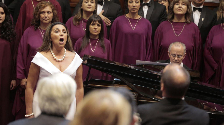 La soprano Luz del Alba, en una actuación. (EFE)