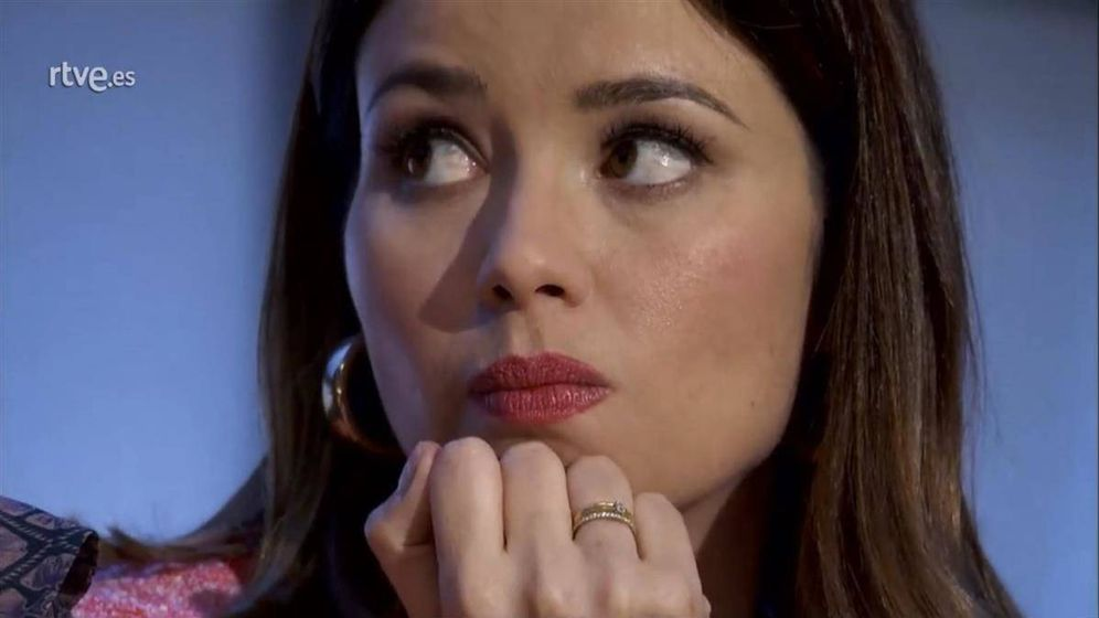 Foto: Dafne Fernández, criticada por Carmen Lomana en 'MasterChef Celebrity'. (TVE)