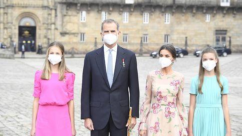 Leonor y Sofía se estrenan en Santiago de Compostela: su visita con los reyes
