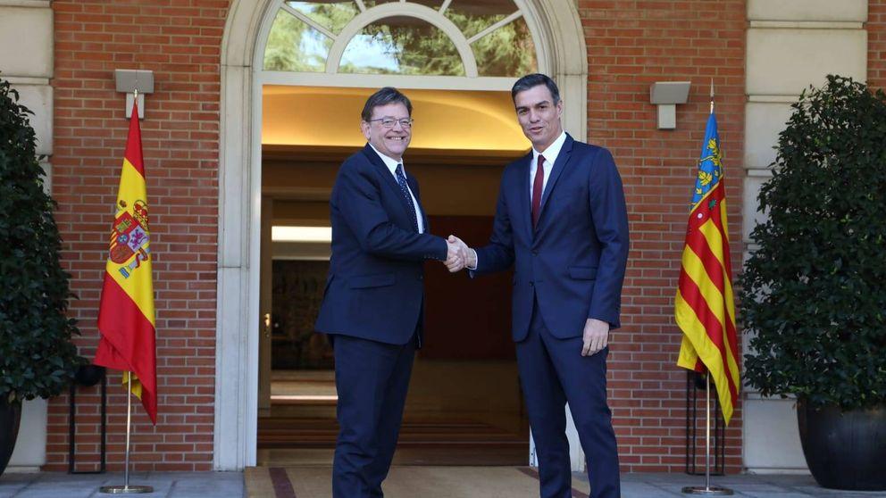 Sánchez compensa a Puig con  más inversiones sin reforma de financiación