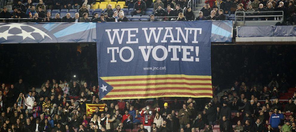Foto: El Barcelona mostró su adhesión a la consulta impulsada por Artur Mas (Reuters)