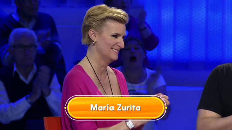María Zurita en 'Pasapalabra'. (Telecinco)