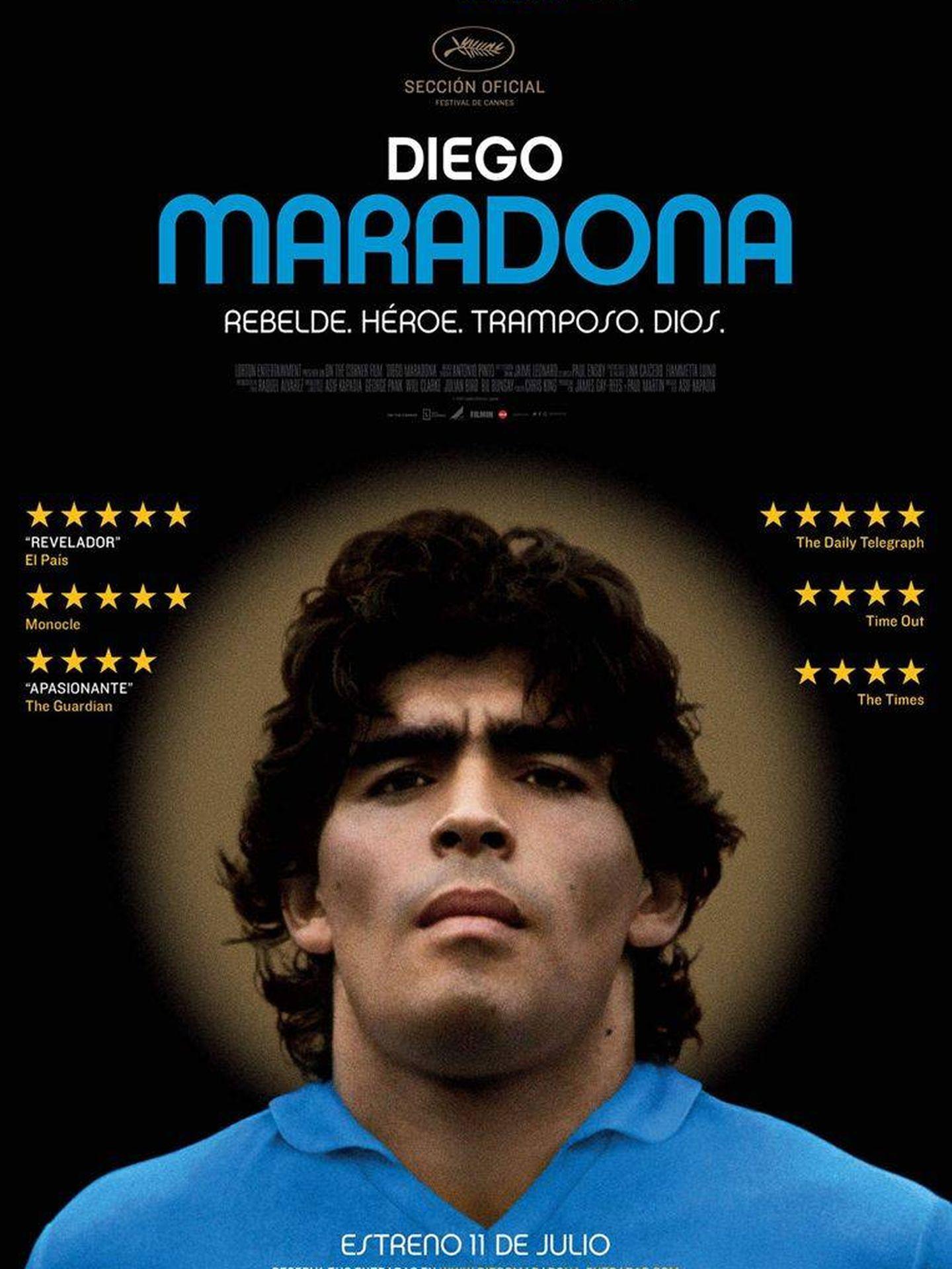 Cartel de 'Diego Maradona'.