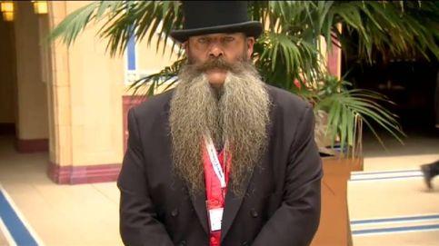 Las mejores barbas compiten en un concurso en Reino Unido