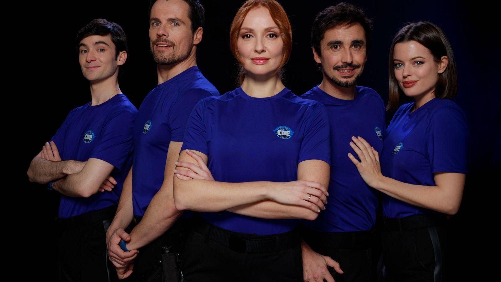 Foto: Los protagonistas de 'Cuerpo de élite' en Antena 3. (Roberto Garver)