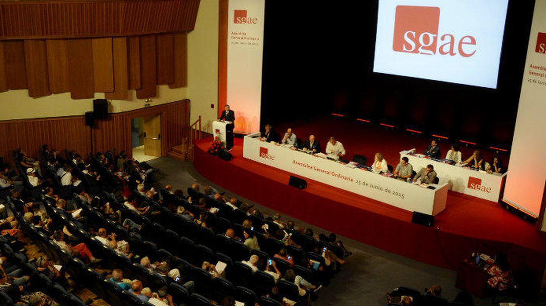 Imagen de la asamblea de la SGAE (Luis Camacho)