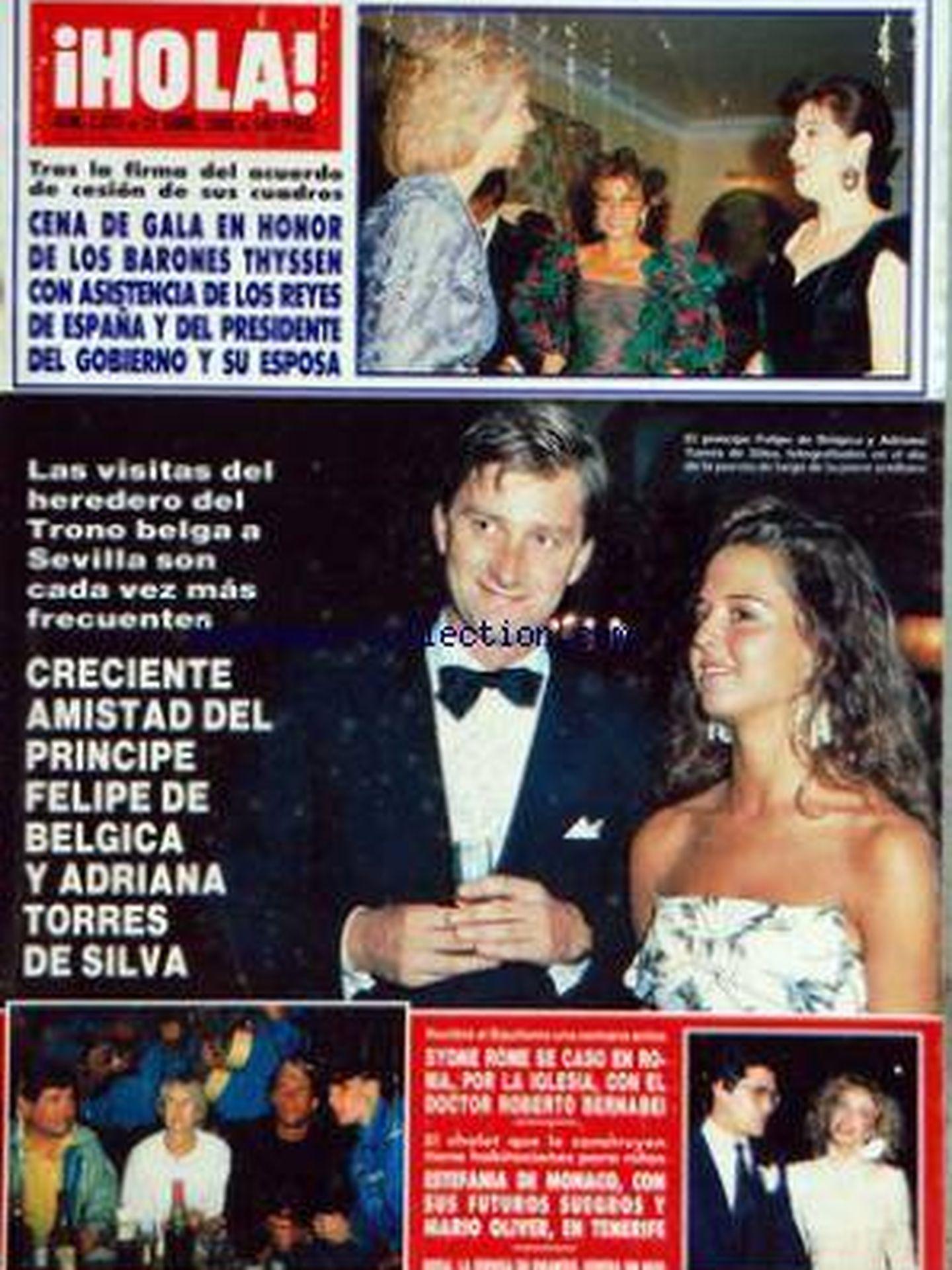 Una portada de '¡Hola!' con Adriana y el rey Felipe. (museedelapresse.com)