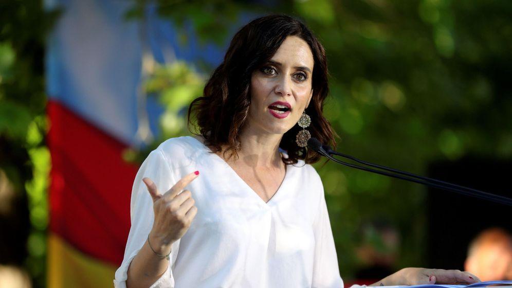 Foto: Isabel Díaz Ayuso participa en un acto de campaña en Aranjuez. (EFE)