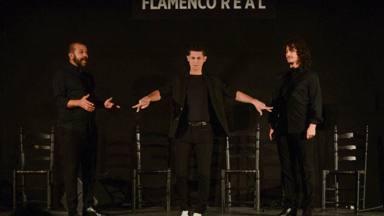 Miguel Soto (i), Rafael Campallo (c) y Jesús Corbacho (d) en el Teatro Real. (Juanlu Vela)