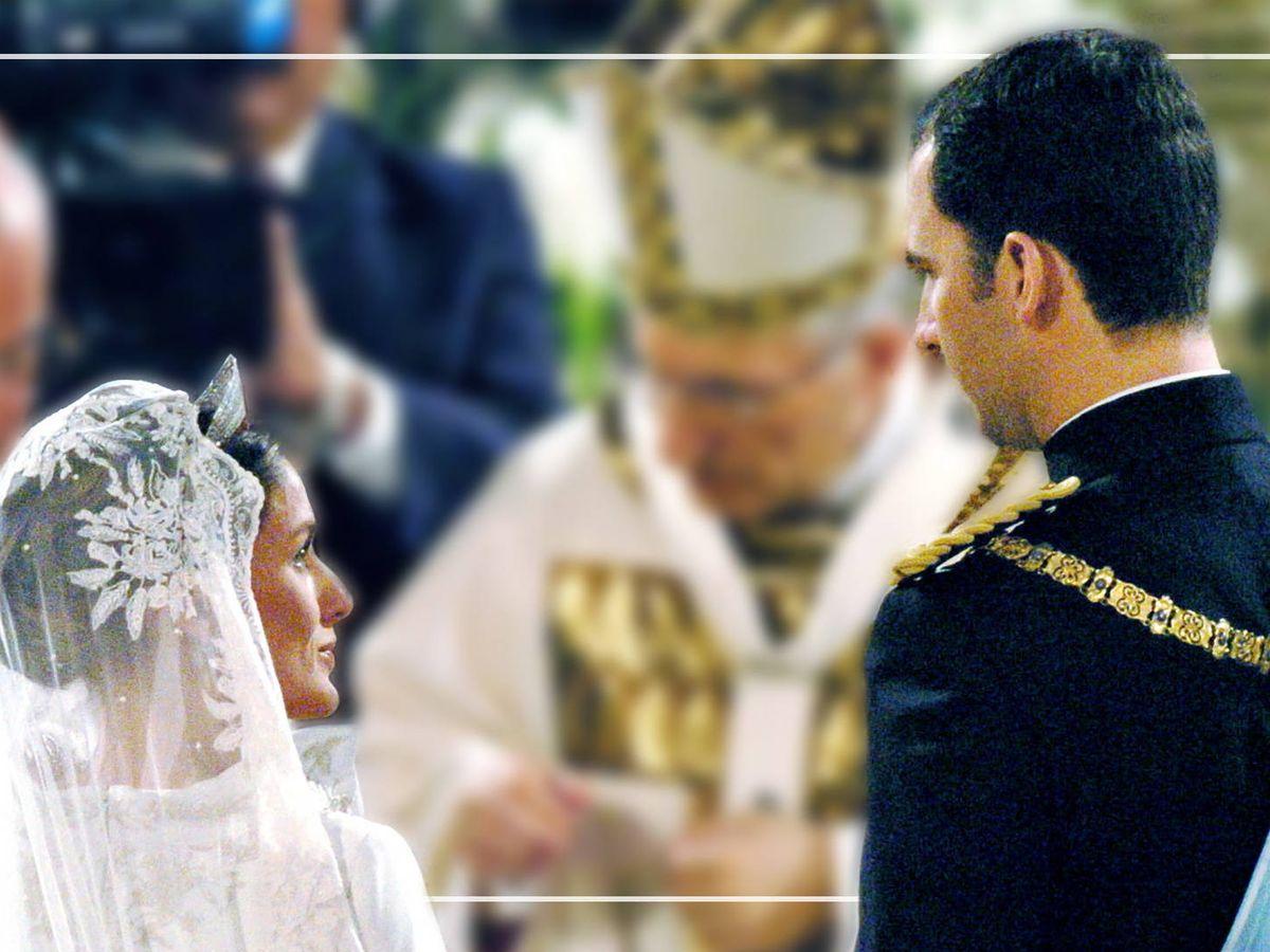 Foto: Los Reyes, durante su enlace. (Cordon Press)