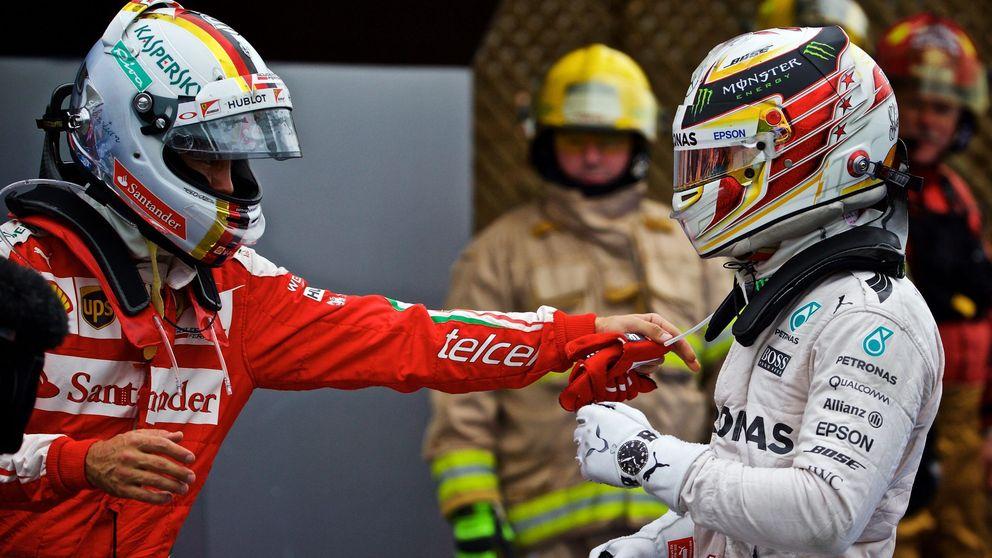 Hamilton hace mala la estrategia de Ferrari y remontada de Sainz: noveno