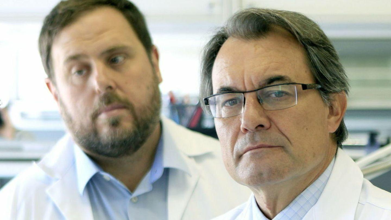 Oriol Junqueras y Artur Mas.