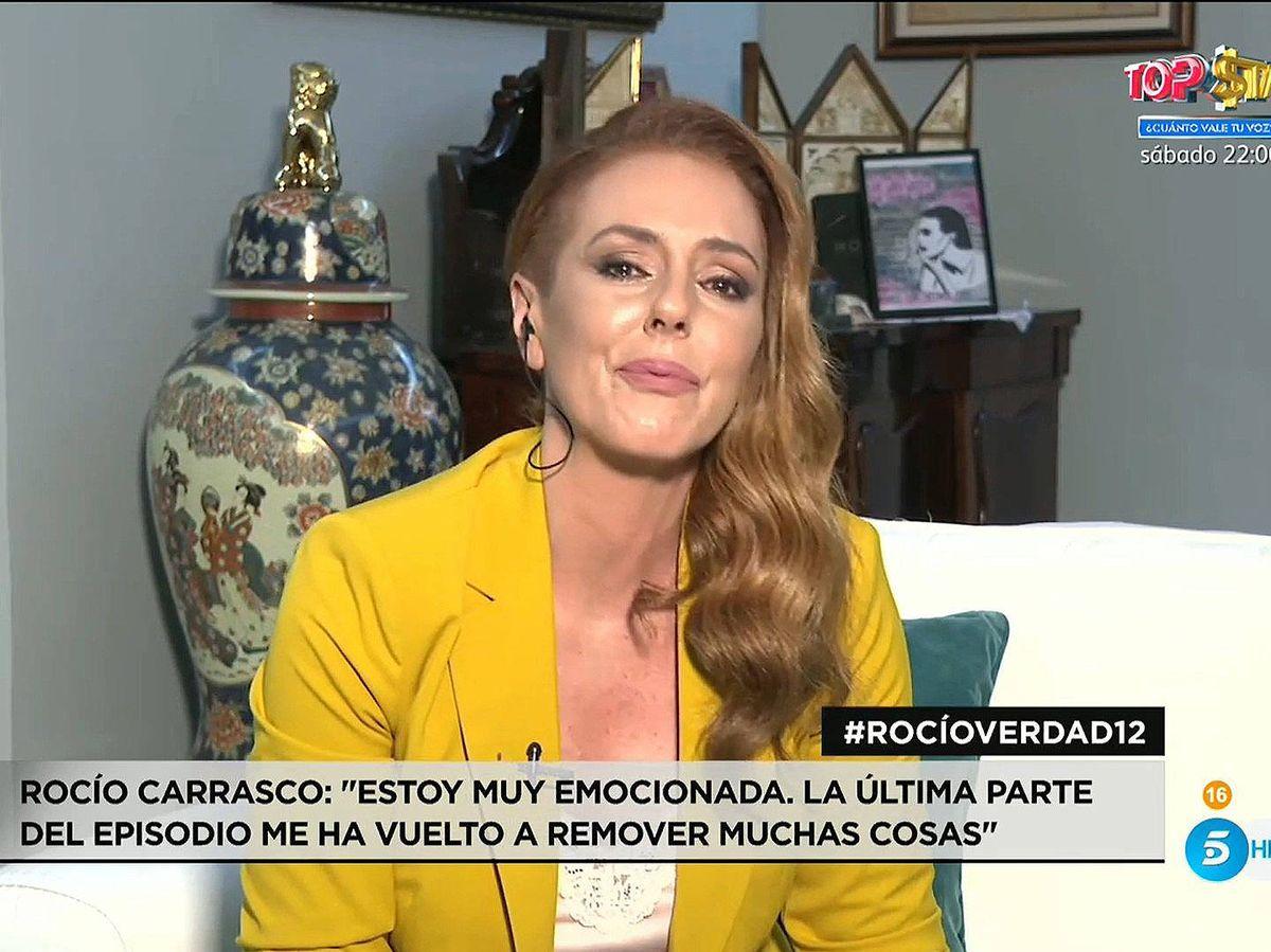 Foto: Rocío Carrasco, en 'Rocío, contar la verdad'. (Mediaset)