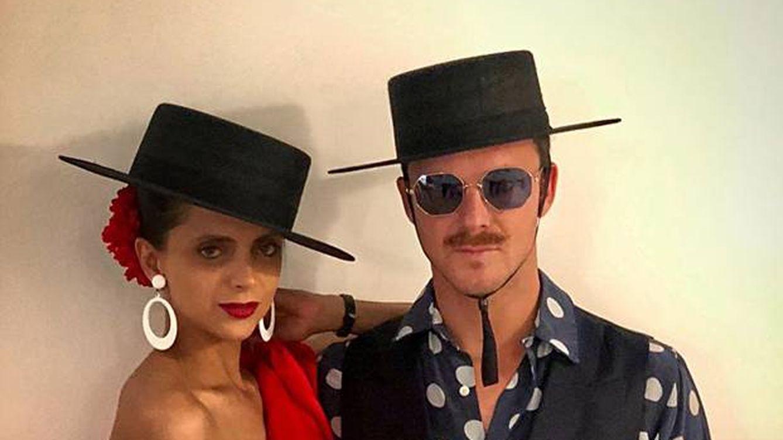 Macarena Gómez y Aldo Comas, muy flamencos en la fiesta de Carlota Casiraghi