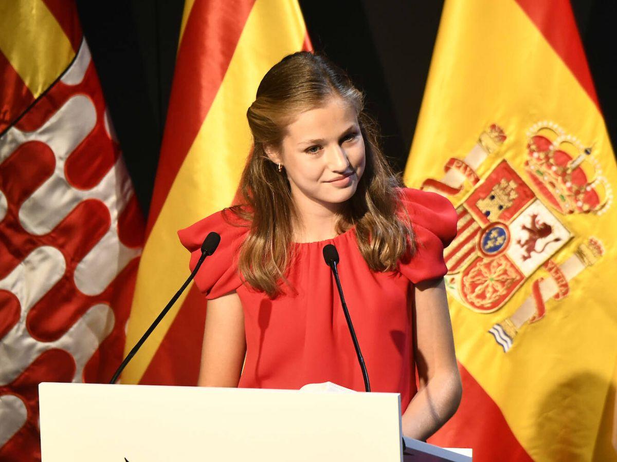 Foto: Leonor durante su discurso en los Premios Princesa de Girona. (LP)