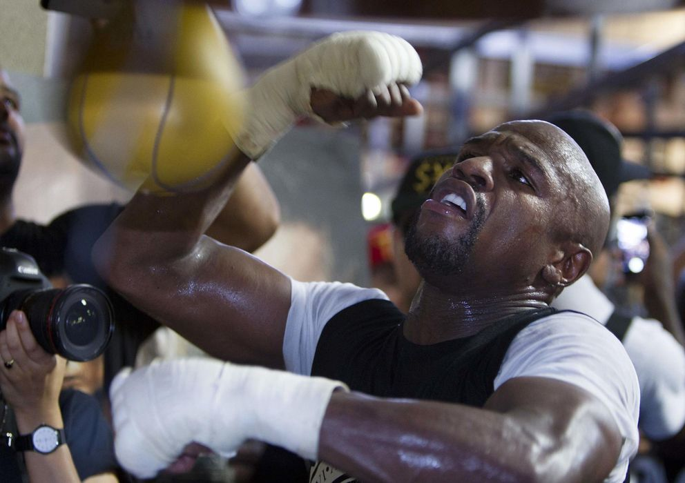 Foto: Floyd Mayweather, durante un entrenamiento (Reuters)