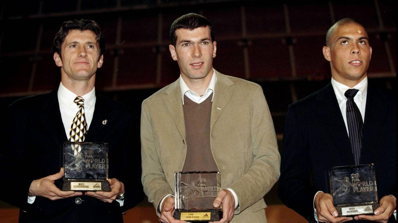 Foto: Davor Suker, Zinédine Zidane y Ronaldo. (Getty)