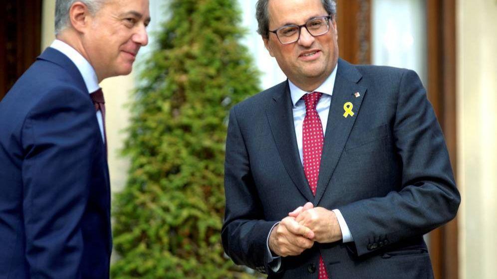 Foto: Urkullu y Torra. (EFE)