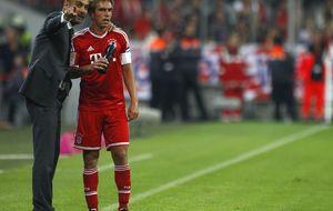 Domínguez hace dos penaltis en un minuto en la fiesta del Bayern de Pep