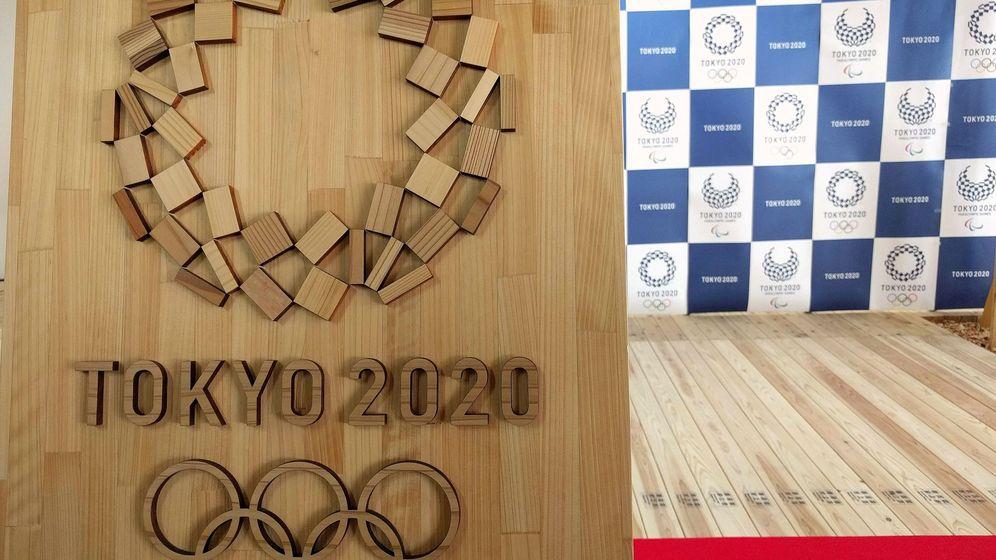 Foto: Detalle del logo de los Juegos Olímpicos de Tokio 2020. (EFE)