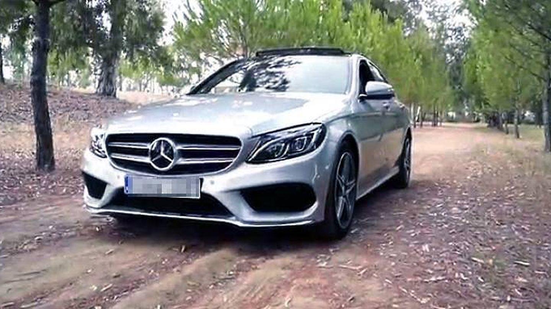 El Mercedes Clase C220d con el que se ha hecho la comparativa con el Model 3. (CC)