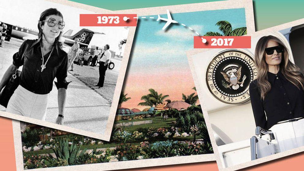 Mismo lugar, idéntico look: Melania Trump vuelve a copiar a Jackie Kennedy