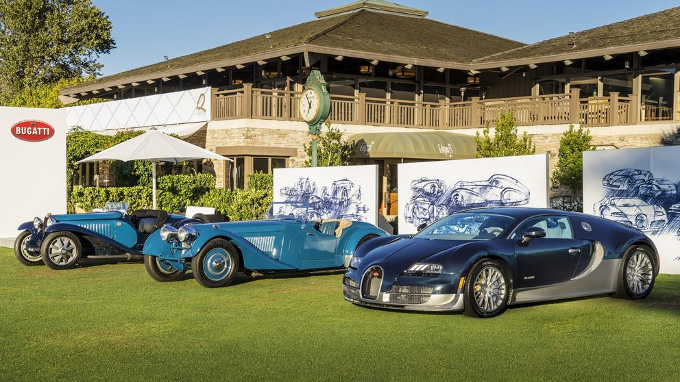 Bugatti y BMW en Pebble Beach