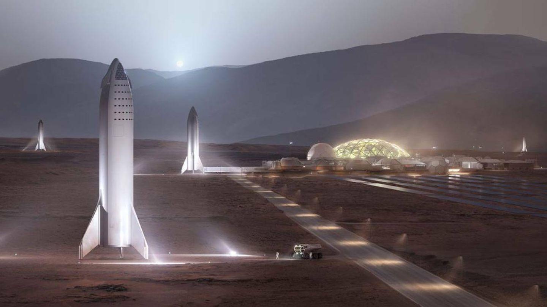 Así es como Musk se imagina la primera colonia humana en Marte. (SpaceX)