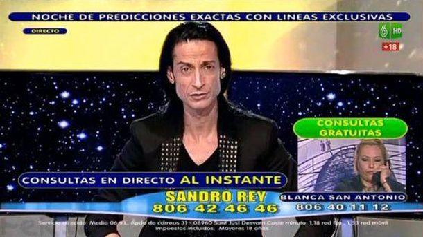 Foto: Tarot nocturno televisivo.